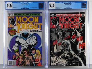 2PC Marvel Comics Moon Knight #1 #8 CGC 9.6