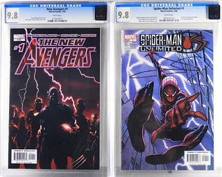 Marvel New Avengers #1 Spider-Man Unlimited #1 CGC