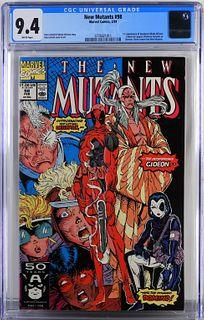 Marvel Comics New Mutants #98 CGC 9.4