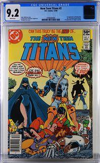 DC Comics New Teen Titans #2 CGC 9.2