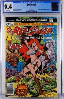 Marvel Comics Red Sonja #1 CGC 9.4