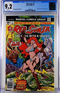 Marvel Comics Red Sonja #1 CGC 9.2