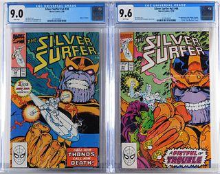 Marvel Comics Silver Surfer v3 #34 #44 CGC 9.0 9.6
