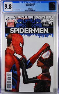 Marvel Comics Spider-Men #2 Variant CGC 9.8