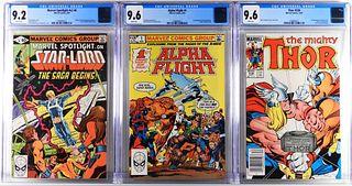 3PC Marvel Comics Modern Key Issue Comic Group