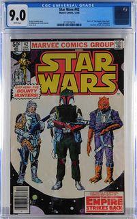 Marvel Comics Star Wars #42 CGC 9.0