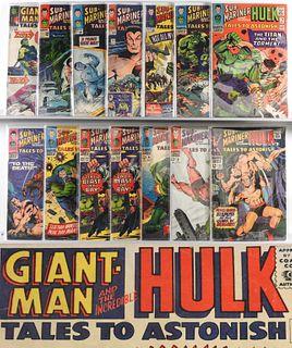 14PC Marvel Comics Tales to Astonish #61-#94