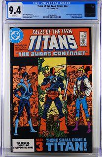 DC Comics Tales of the Teen Titans #44 CGC 9.4