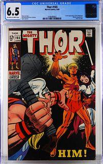 Marvel Comics Thor #165 CGC 6.5