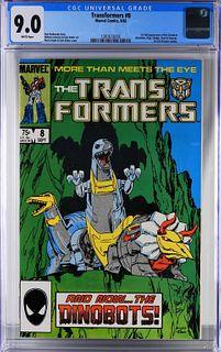 Marvel Comics Transformers #8 CGC 9.0