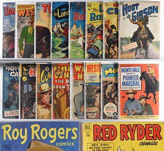 24PC Golden Age DC Dell Fawcett Western Comics