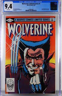 Marvel Comics Wolverine Limited Series #1 CGC 9.4
