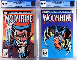 Marvel Comics Wolverine Limited Ser. #1 #2 CGC 9.2