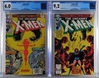2PC Marvel Comics X-Men #125 #134 CGC 6.0 9.2