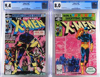 2PC Marvel Comics X-Men #136 #138 CGC 9.4 8.0