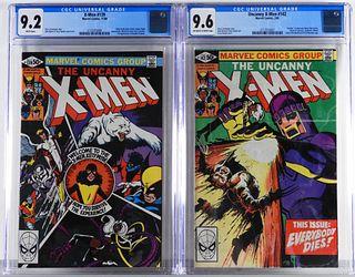 Marvel Comics Uncanny X-Men #139 #142 CGC 9.2 9.6