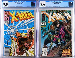 Marvel Comics Uncanny X-Men #221 #266 CGC 9.0 9.6