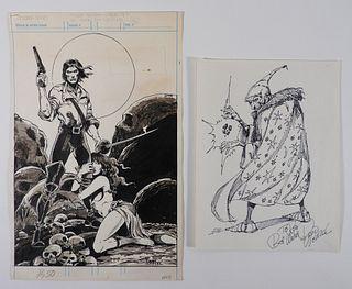 David Wenzel Solomon Kane Original Art Pin-Up