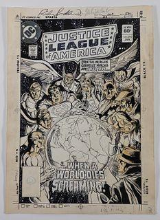 Rich Buckler DC Comics JLA #210 Original Cover Art