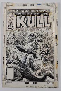 Ernie Chan Rudy Nebres Kull #25 Original Cover Art
