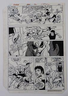 Carmine Infantino Taurus S Flash #321 Original Art