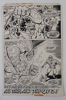 John Byrne Dave Hunt Marvel Team-Up Original Art