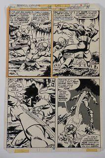 John Byrne Marvel Two-In-On #43 Original Art Work