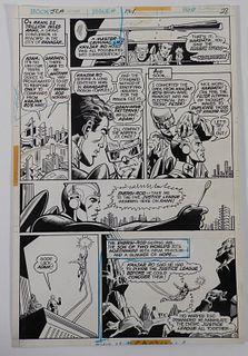 Dick Dillin Frank McLaughlin JLA #121 Original Art