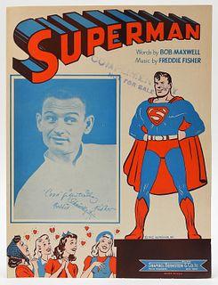 1942 Shapiro Bernstein DC Superman Sheet Music