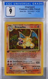1999 French Pokemon Base 1st Ed. Charizard CGC 9