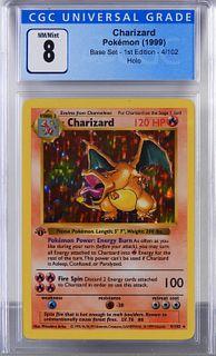 1999 Pokemon Base Set 1st Ed. Charizard CGC 8
