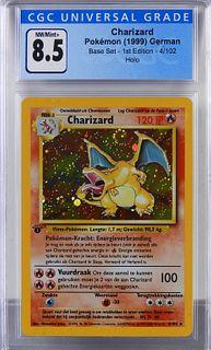 1999 Dutch Pokemon Base Set 1st Charizard CGC 8.5