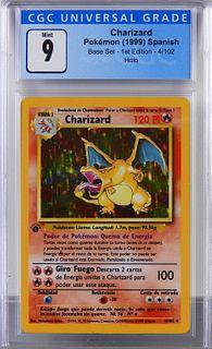 1999 Spanish Pokemon Base Set 1st Charizard CGC 9