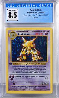 1999 Pokemon Base Set 1st Ed. Alakazam CGC 8.5