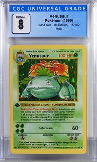 1999 Pokemon Base Set 1st Ed. Venusaur CGC 8