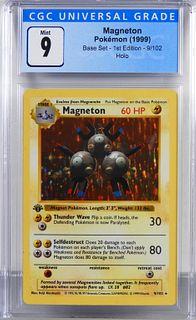 1999 Pokemon Base Set 1st Ed. Magneton CGC 9