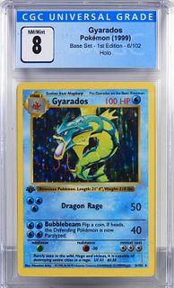 1999 Pokemon Base Set 1st Ed. Gyarados CGC 8