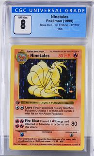 1999 Pokemon Base Set 1st Ed. Ninetales CGC 8