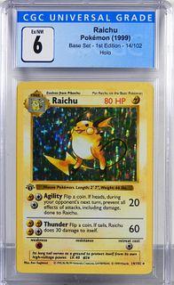 1999 Pokemon Base Set 1st Ed. Raichu CGC 6