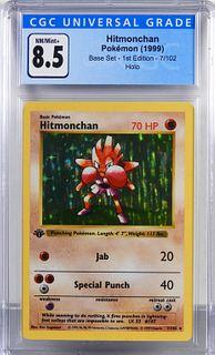 1999 Pokemon Base Set 1st Ed. Hitmonchan CGC 8.5