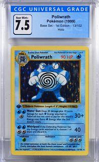 1999 Pokemon Base Set 1st Ed. Poliwrath CGC 7.5