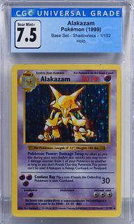 1999 Pokemon Base Set Shadowless Alakazam CGC 7.5