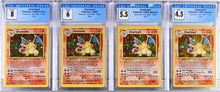 4 1999 Pokemon Base Unl. Charizard CGC Card Group