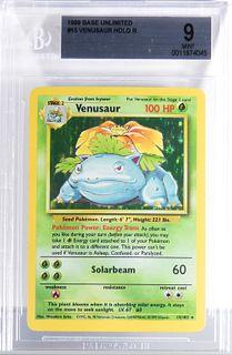 1999 Pokemon Base Unlimited Venusaur BGS 9