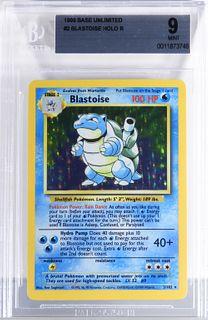 1999 Pokemon Base Unlimited Blastoise BGS 9