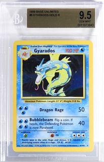 1999 Pokemon Base Unlimited Gyarados BGS 9.5