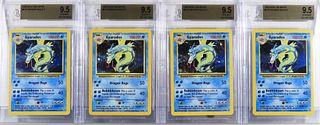 4PC 1999 Pokemon Base Unlimited Gyarados BGS 9.5