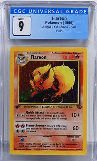 1999 Pokemon Jungle 1st Ed. Flareon CGC 9