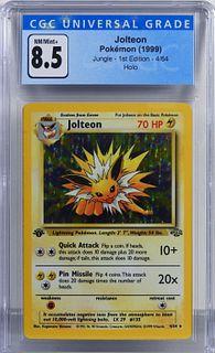 1999 Pokemon Jungle 1st Ed. Jolteon CGC 8.5