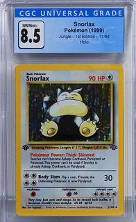 1999 Pokemon Jungle 1st Ed. Snorlax CGC 8.5